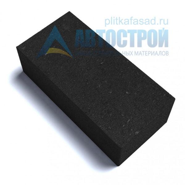 Тротуарная плитка «Брусчатка» без фаски 12х25см толщиной 80мм черная