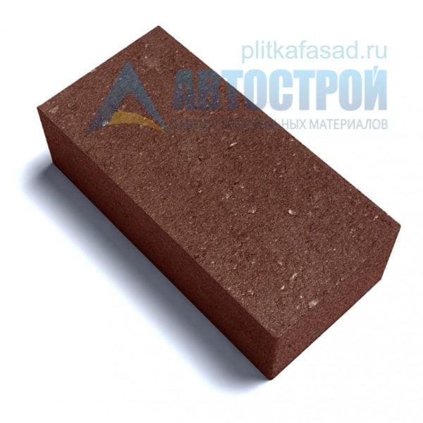Тротуарная плитка «Брусчатка» без фаски 12х25см толщиной 80мм коричневая
