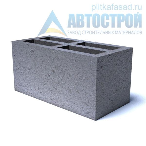 Блок бетонный стеновой СКЦ 190x190x390мм четырехщелевой