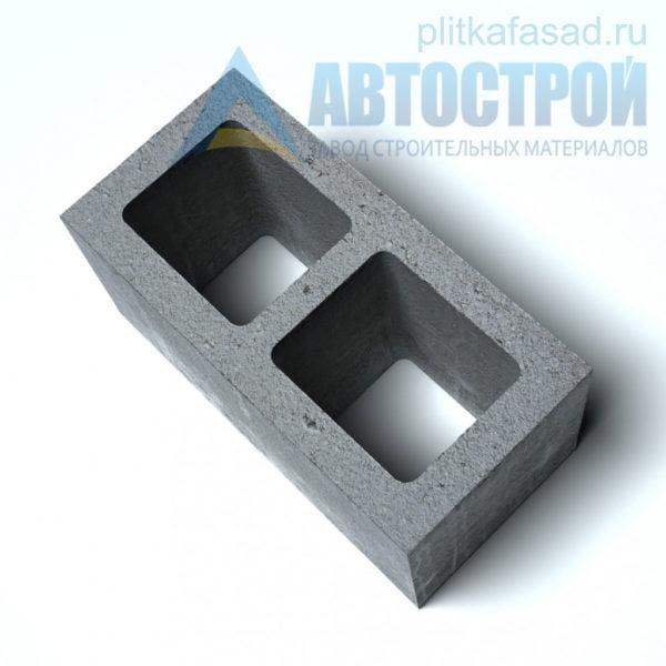 Блок бетонный стеновой КСР-ПР-ПС-39-100-F75-1100 (СКЦ-1Л) 190x190x390мм пустотелый