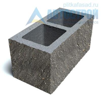 Блок фасадный угловой двухпустотный 190х188х390 серый