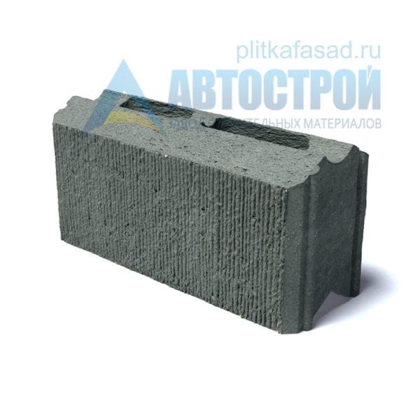 Фасадный блок для стены забора серый