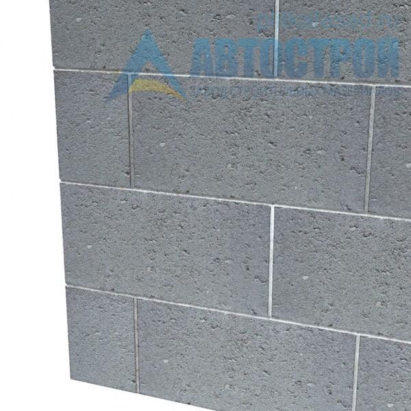 Блок керамзитобетонный для межквартирных перегородок КСР-ПР-ПС-39-100-F75 140х190х390мм полнотелый. Пример стены