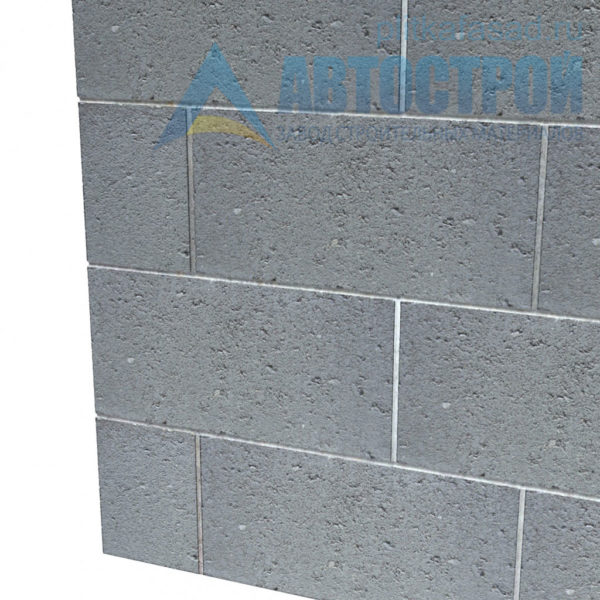 Блок керамзитобетонный для перегородок КСР-ПР-ПС-39-50-F25-800 (СКЦ) 140х190х390мм пустотелый пример угла