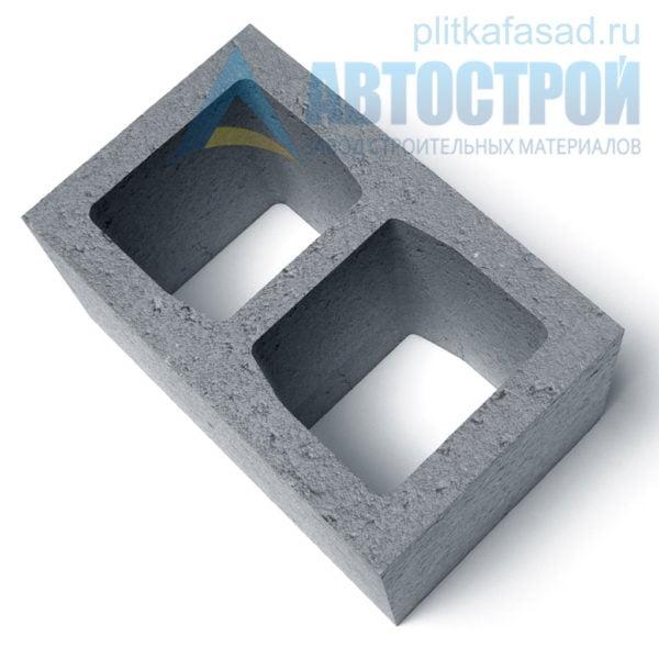 Блок керамзитобетонный стеновой (СКЦ) 240x190x390мм двухпустотный