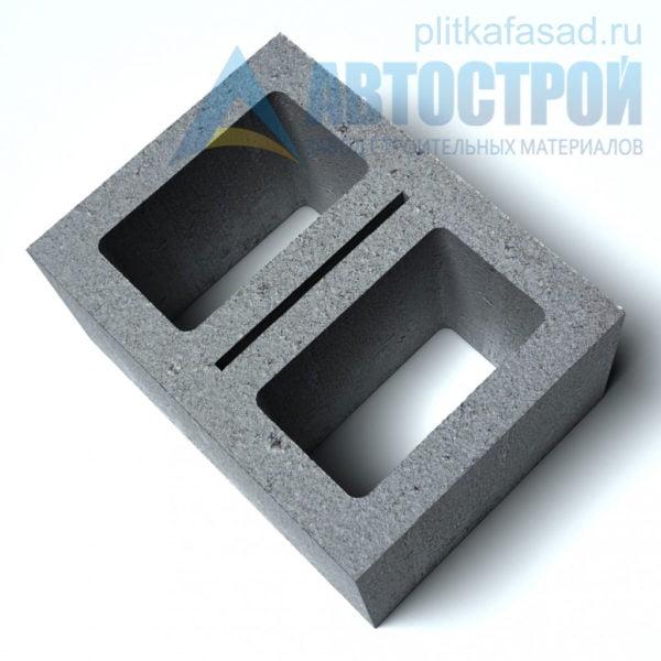 Блок керамзитобетонный стеновой КПР-ПР-ПС-39-50-F25-900 (СКЦ) 290x190x390мм двухпустотный