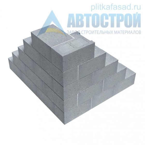 Блок керамзитобетонный стеновой КСР-ПР-39-150-F75-2200 (СКЦ) 290х190х390мм полнотелый пример угла