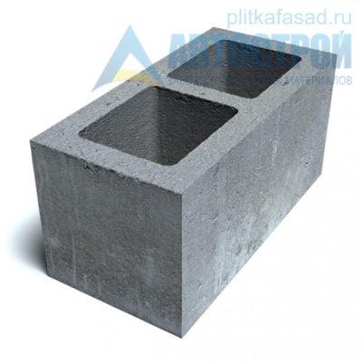 Блок керамзитобетонный стеновой КПР-ПР-GC-39-50-F25-750 (СКЦ-1Р 01/01С) 190x190x390мм пустотелый
