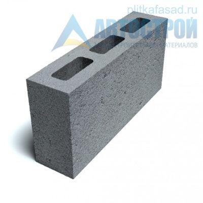 Блок керамзитобетонный для перегородок КПР-ПР-ПС-39-50- F25-900 (СКЦ-3Р-80 01/01С) 80x188x390мм пустотелый