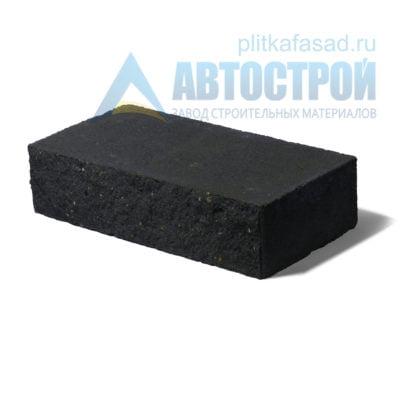 Кирпич бетонный стеновой полнотелый фасадный колотый рядовой черный