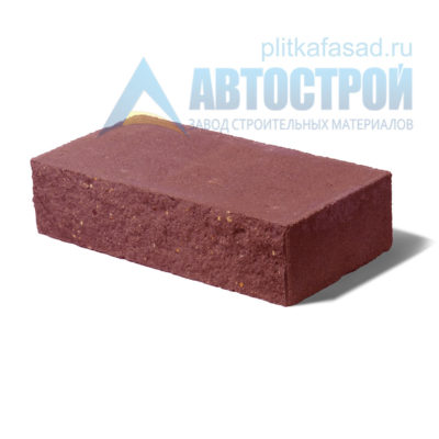 Кирпич бетонный стеновой полнотелый фасадный колотый рядовой красный