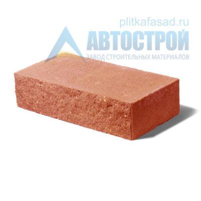 Кирпич бетонный стеновой полнотелый фасадный колотый рядовой оранжевый