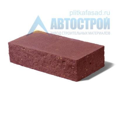 Кирпич бетонный стеновой полнотелый фасадный колотый угловой красный