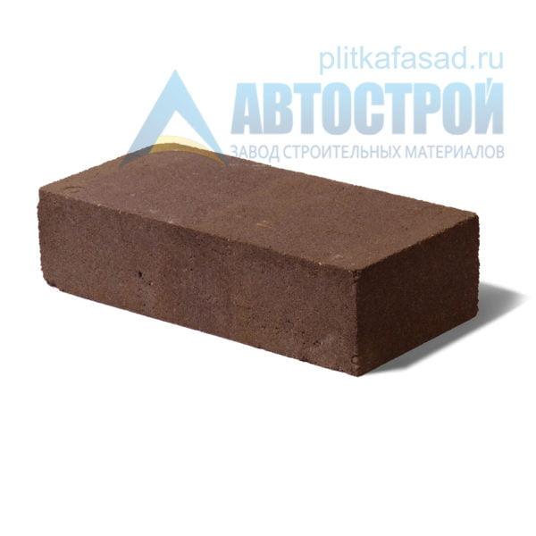 Кирпич бетонный стеновой полнотелый коричневый