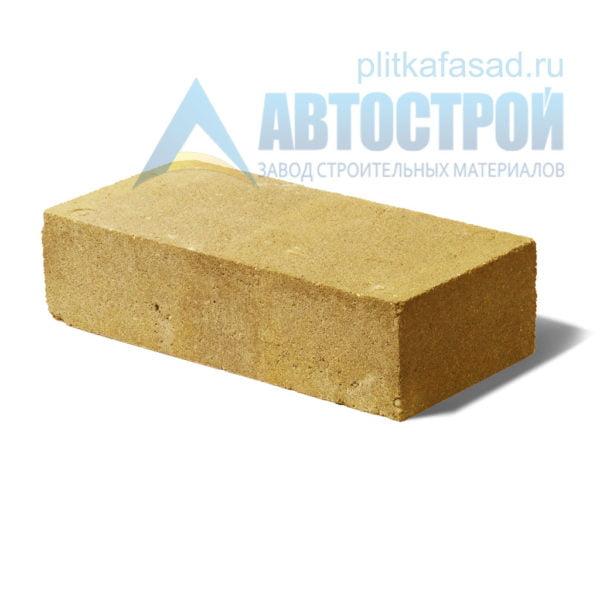 Кирпич бетонный стеновой полнотелый желтый