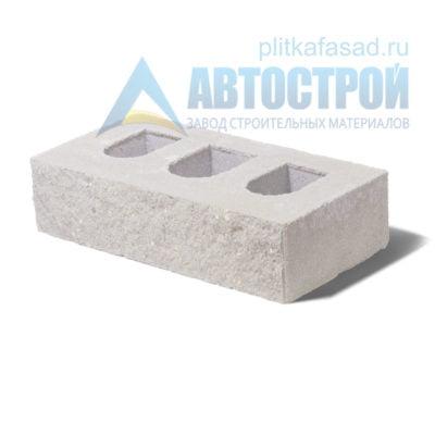 Кирпич бетонный стеновой пустотелый фасадный колотый рядовой белый