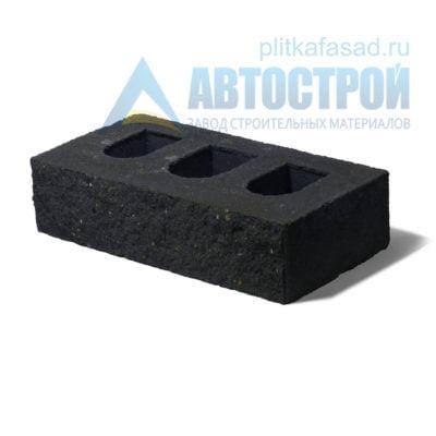 Кирпич бетонный стеновой пустотелый фасадный колотый рядовой черный