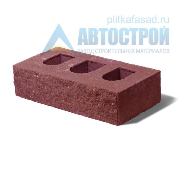Кирпич бетонный стеновой пустотелый фасадный колотый рядовой красный