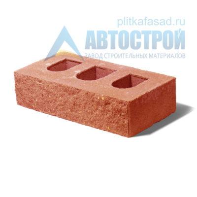 Кирпич бетонный стеновой пустотелый фасадный колотый рядовой оранжевый