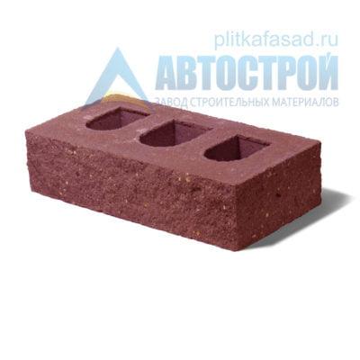 Кирпич бетонный стеновой пустотелый фасадный колотый угловой красный