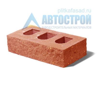 Кирпич бетонный стеновой пустотелый фасадный колотый угловой оранжевый