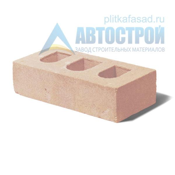 Кирпич бетонный стеновой пустотелый бежевый