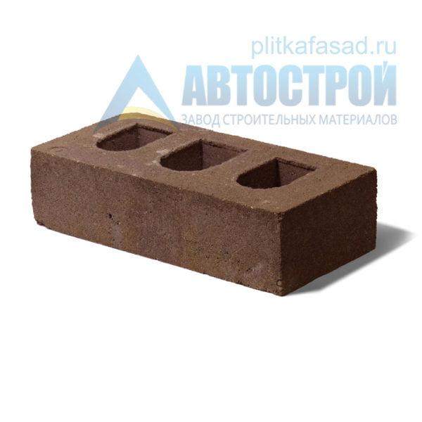 Кирпич бетонный стеновой пустотелый коричневый