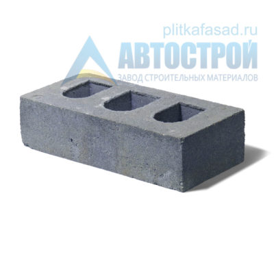 Кирпич бетонный стеновой пустотелый серый