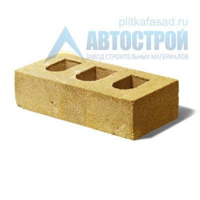 Кирпич бетонный стеновой пустотелый желтый