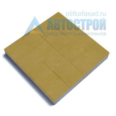 """Тротуарная плитка """"Паркет"""" 30х30см толщиной 30мм желтая"""