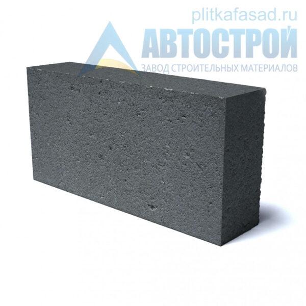 Блок фасадный рядовой полнотелый 90х188х390мм черный