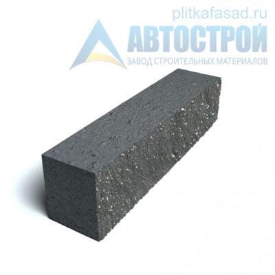 Блок фасадный рядовой полнотелый 90х90х390мм черный