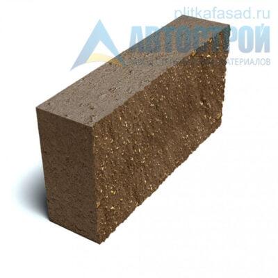 Блок фасадный рядовой полнотелый 90х188х390мм коричневый