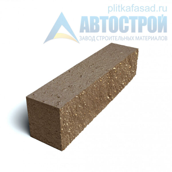 Блок фасадный рядовой полнотелый 90х90х390мм коричневый