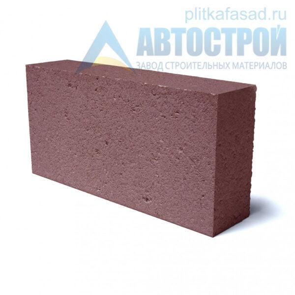 Блок фасадный рядовой полнотелый 90х188х390мм красный
