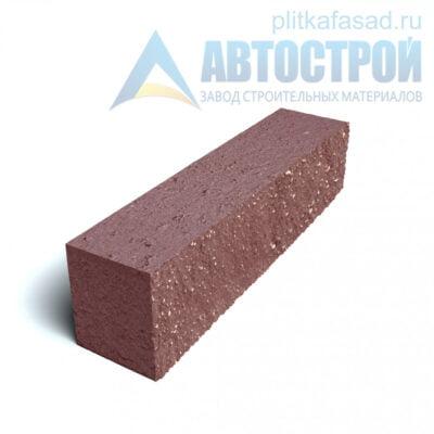 Блок фасадный рядовой полнотелый 90х90х390мм красный