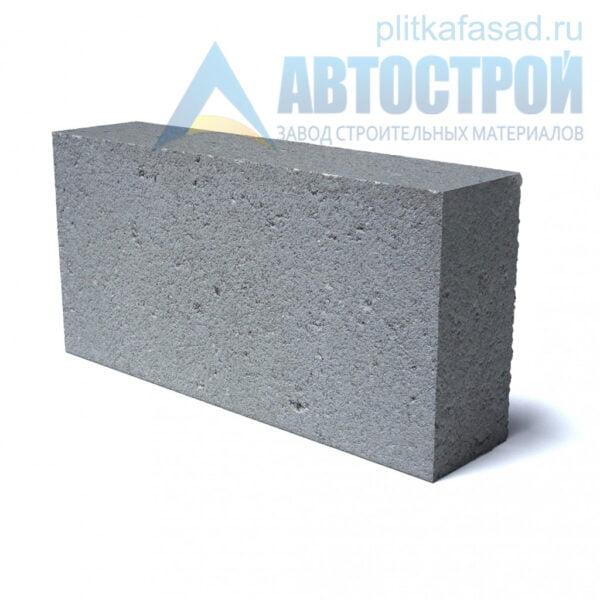 Блок фасадный рядовой полнотелый 90х188х390мм серый