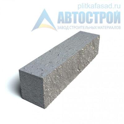 Блок фасадный рядовой полнотелый 90х90х390мм серый