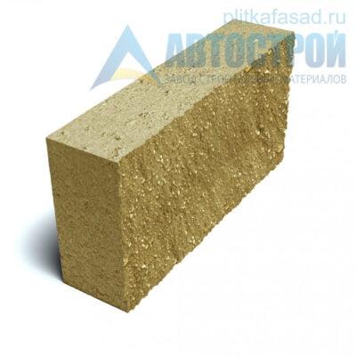 Блок фасадный рядовой полнотелый 90х188х390мм желтый