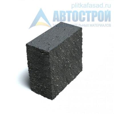 Блок фасадный угловой полнотелый 90х188х195мм черный