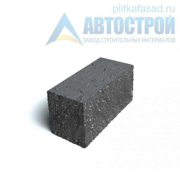 Блок фасадный угловой полнотелый 90х90х195мм черный