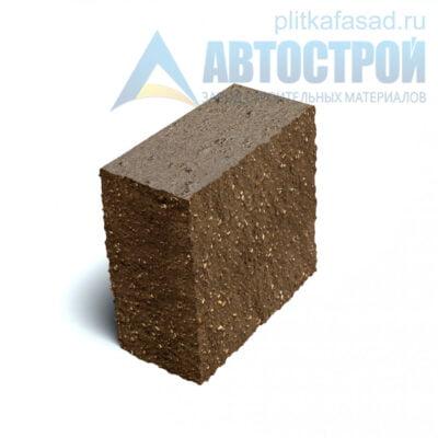 Блок фасадный угловой полнотелый 90х188х195мм коричневый