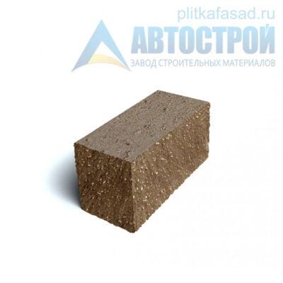 Блок фасадный угловой полнотелый 90х90х195мм коричневый