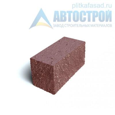Блок фасадный угловой полнотелый 90х90х195мм красный