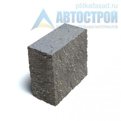 Блок фасадный угловой полнотелый 90х188х195мм серый