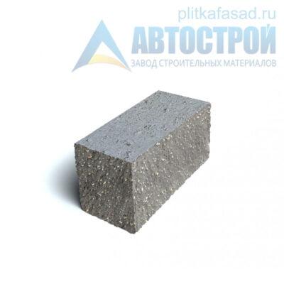 Блок фасадный угловой полнотелый 90х90х195мм серый
