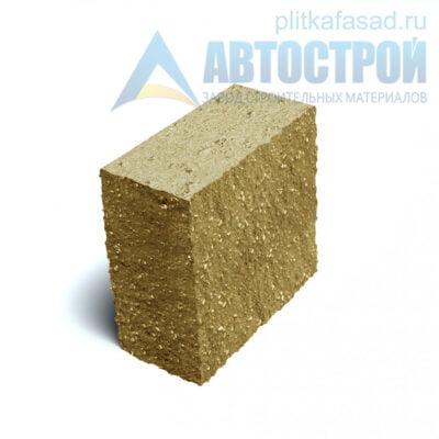 Блок фасадный угловой полнотелый 90х188х195мм желтый