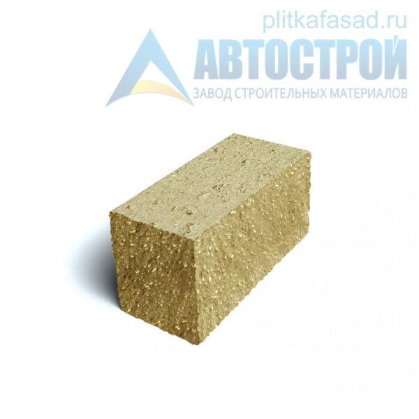 Блок фасадный угловой полнотелый 90х90х195мм желтый