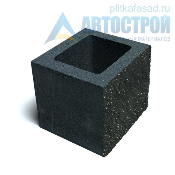 Блок фасадный рядовой пустотелый 190х188х190мм черный