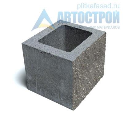Блок фасадный рядовой пустотелый 190х188х190мм серый